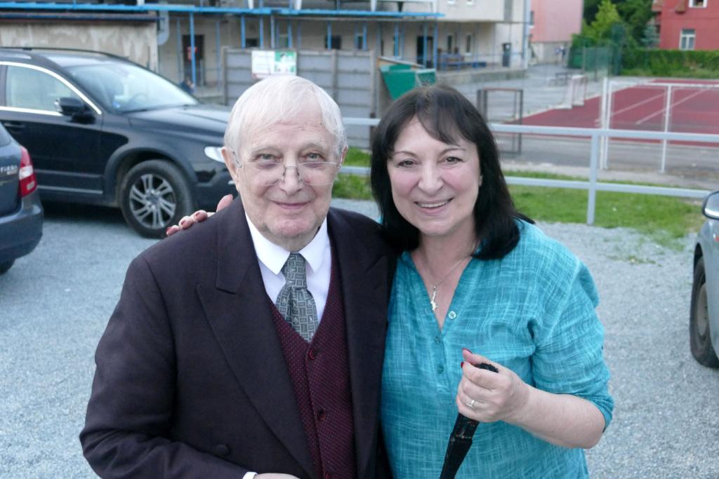 Martha Elefteriadu a Jiří Suchý, 2019, foto: Patrik Kubas